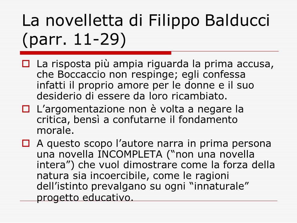 La novelletta di Filippo Balducci (parr. 11-29)