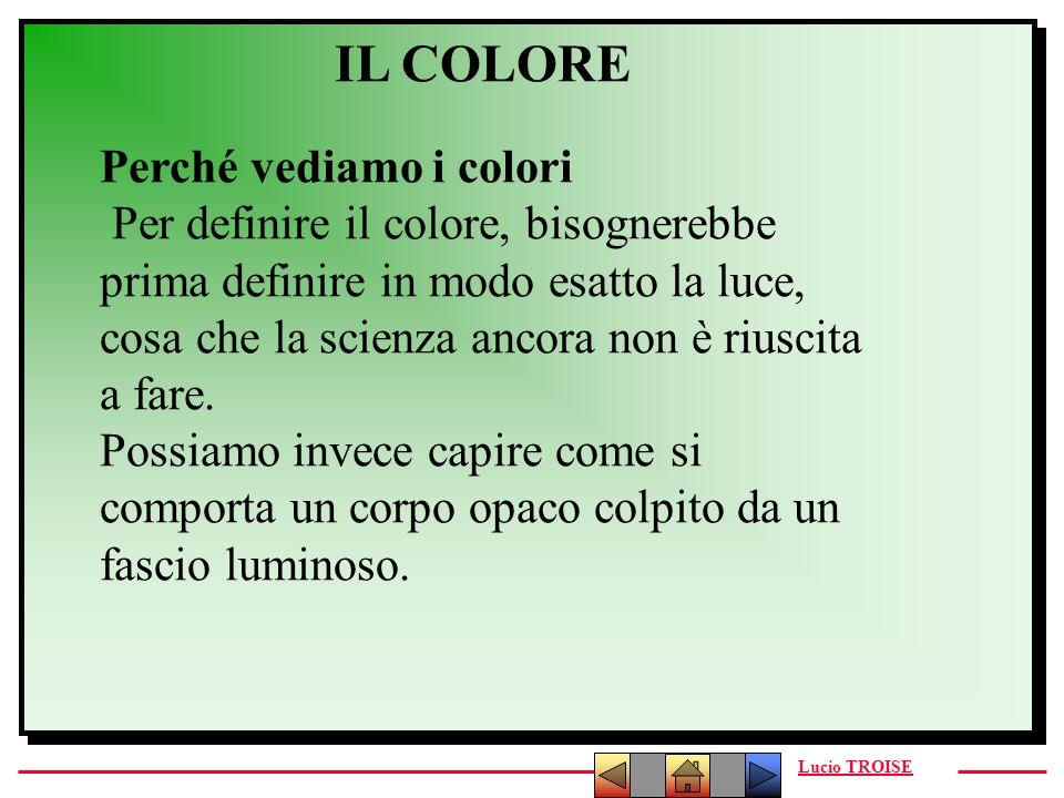 IL COLORE Perché vediamo i colori