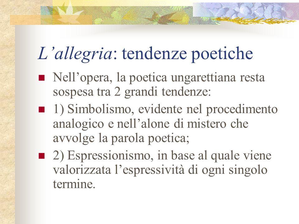 L'allegria: tendenze poetiche