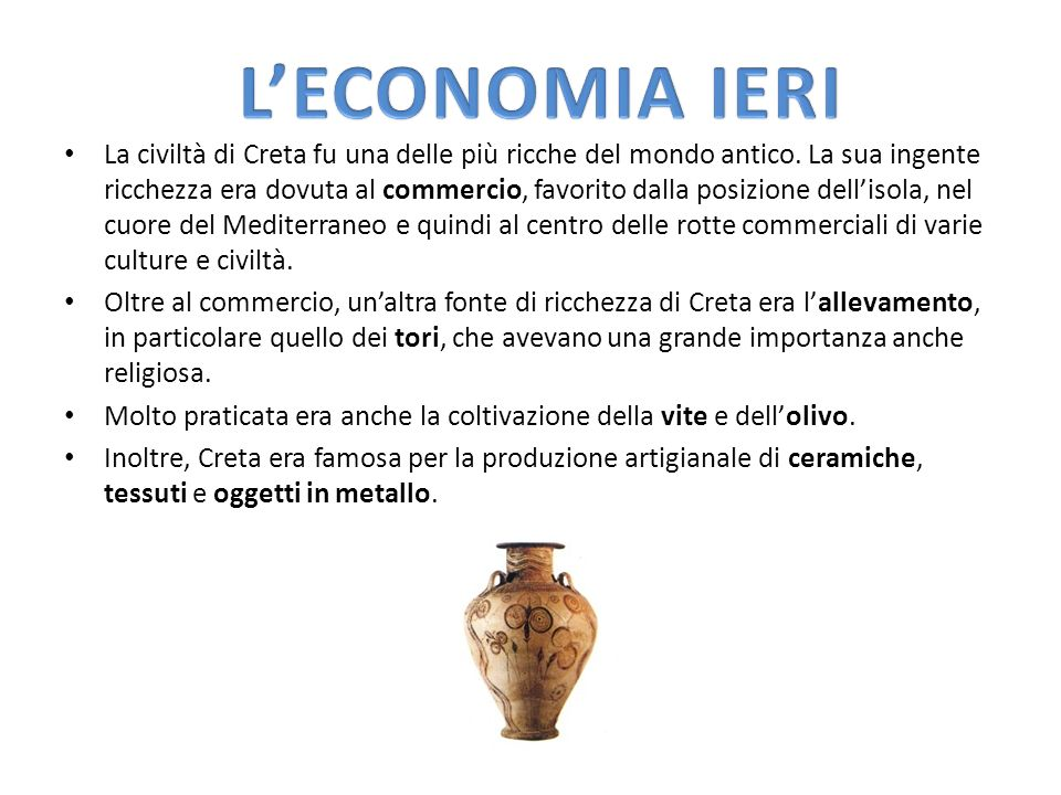 L'ECONOMIA IERI