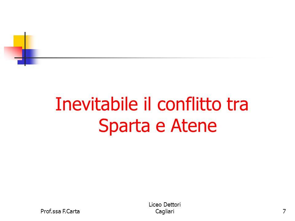 Inevitabile il conflitto tra Sparta e Atene