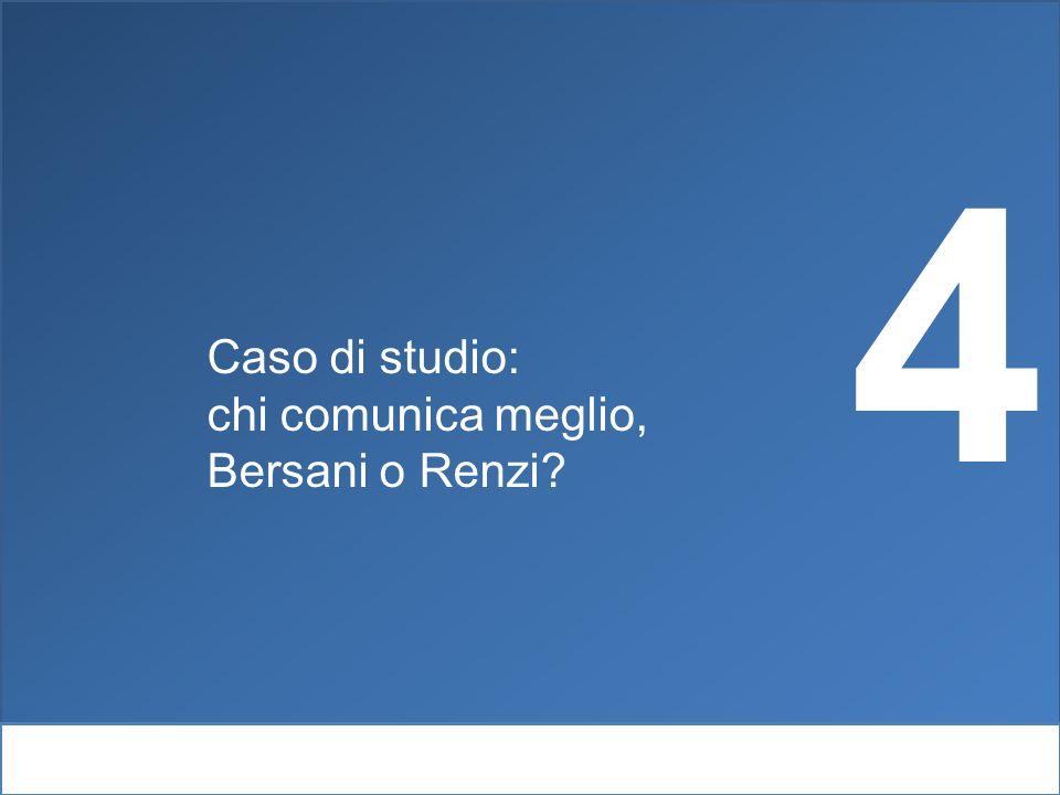 4 Caso di studio: chi comunica meglio, Bersani o Renzi