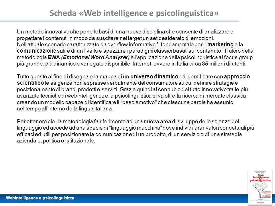 Scheda «Web intelligence e psicolinguistica»