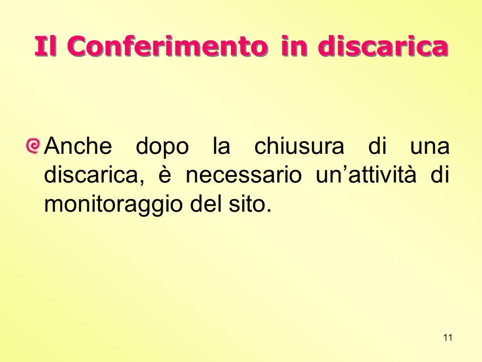 Il Conferimento in discarica