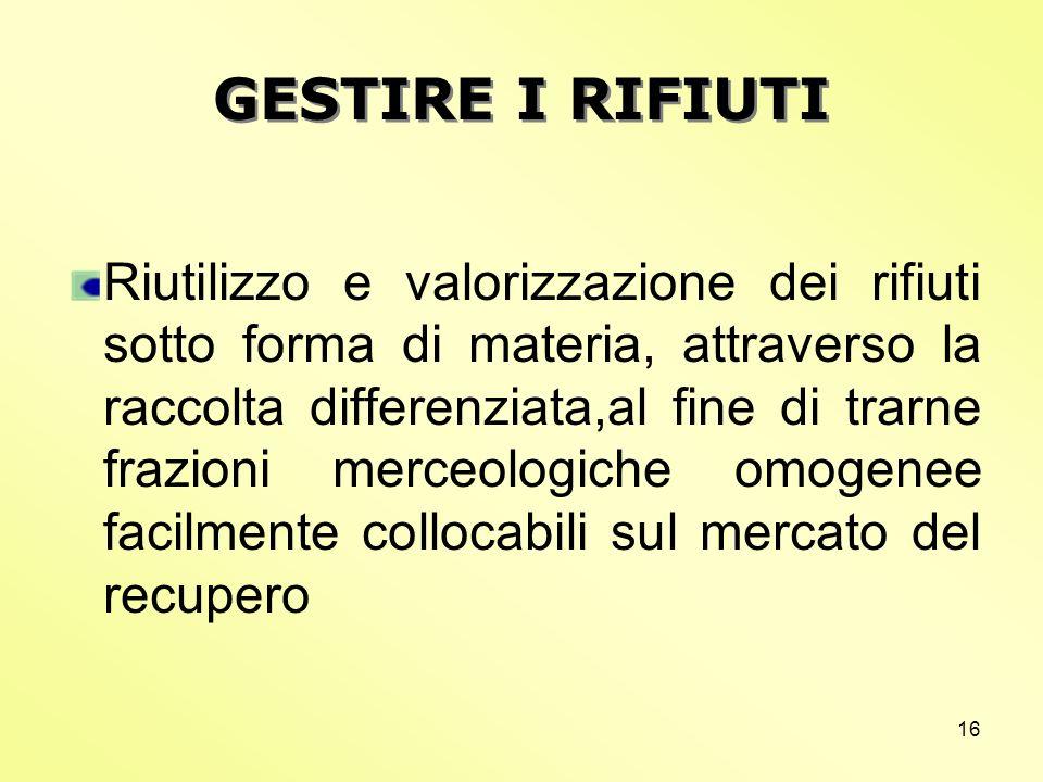 GESTIRE I RIFIUTI