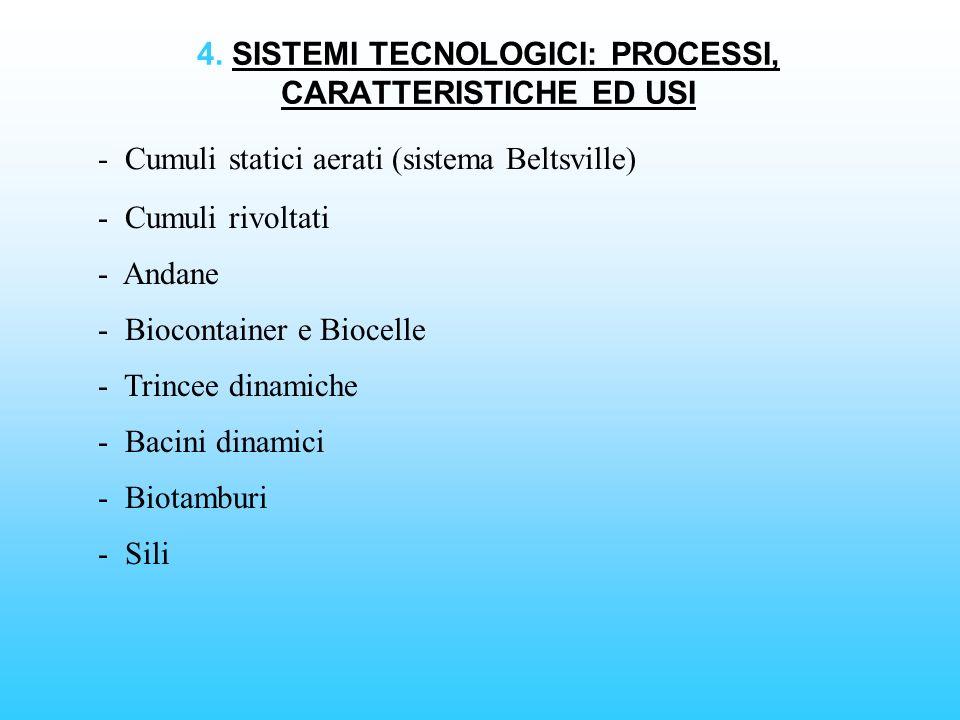 4. SISTEMI TECNOLOGICI: PROCESSI, CARATTERISTICHE ED USI