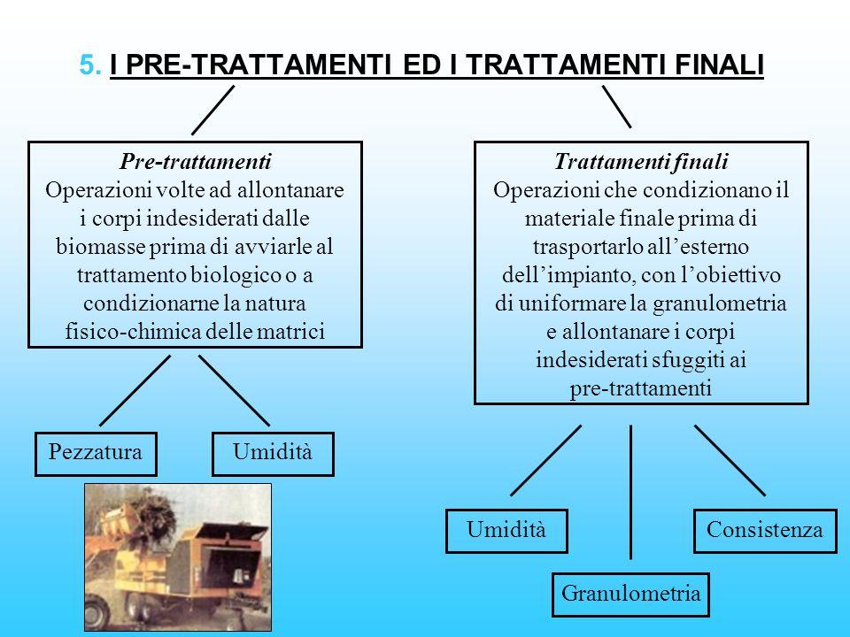5. I PRE-TRATTAMENTI ED I TRATTAMENTI FINALI