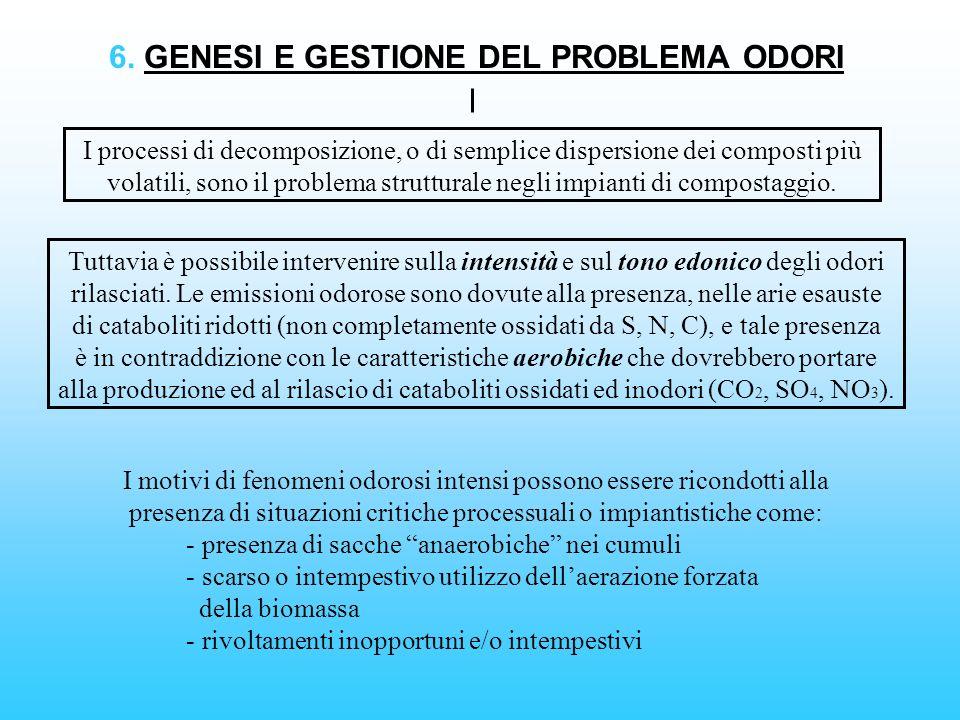 6. GENESI E GESTIONE DEL PROBLEMA ODORI