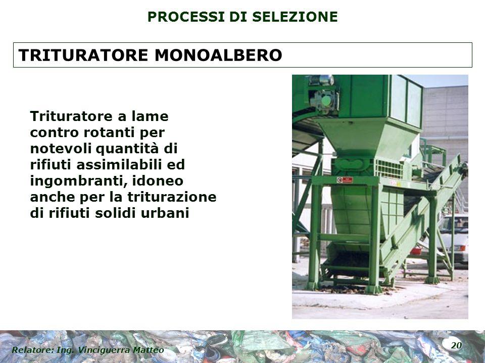TRITURATORE MONOALBERO