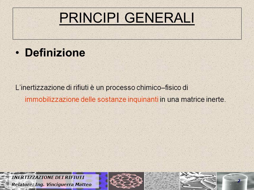 PRINCIPI GENERALI Definizione