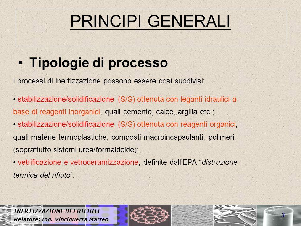 PRINCIPI GENERALI Tipologie di processo