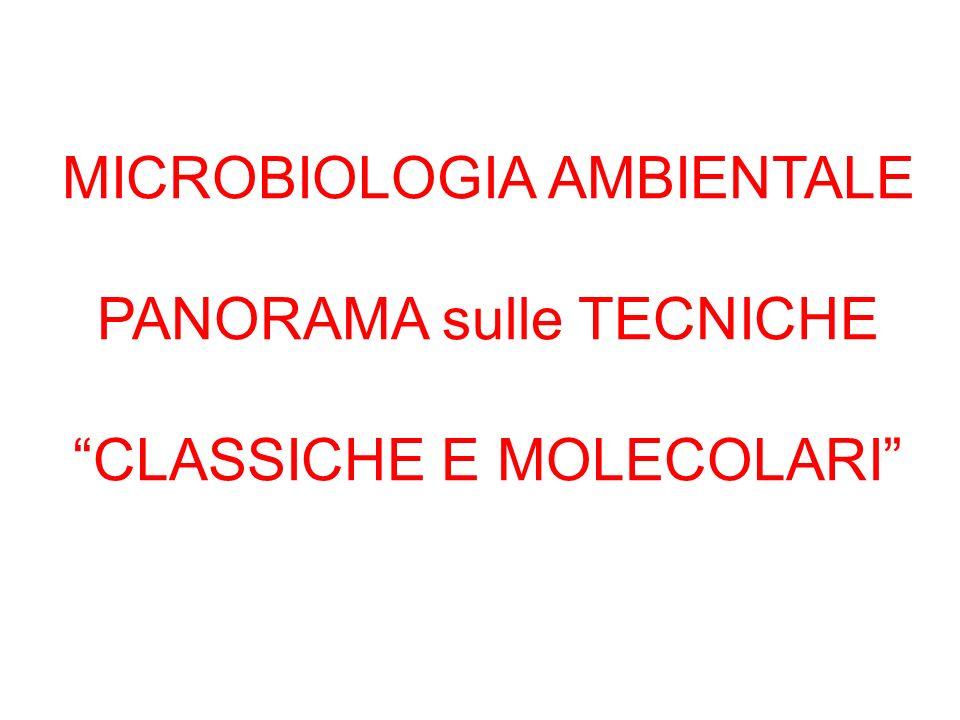 MICROBIOLOGIA AMBIENTALE PANORAMA sulle TECNICHE