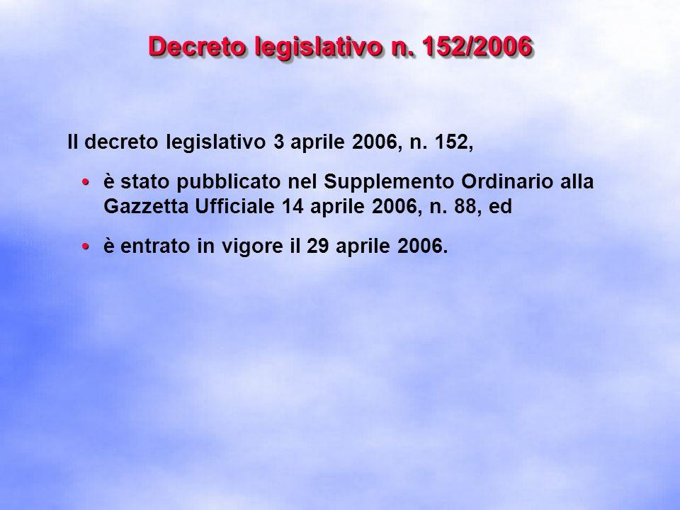 Decreto legislativo n. 152/2006
