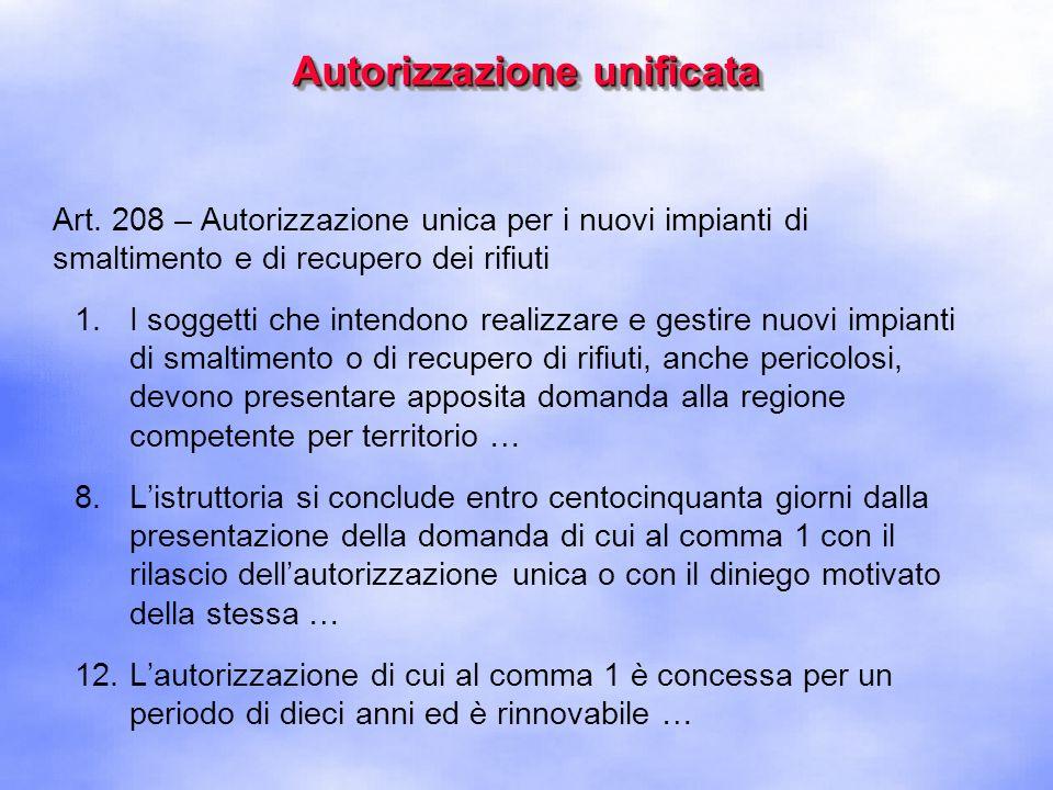 Autorizzazione unificata