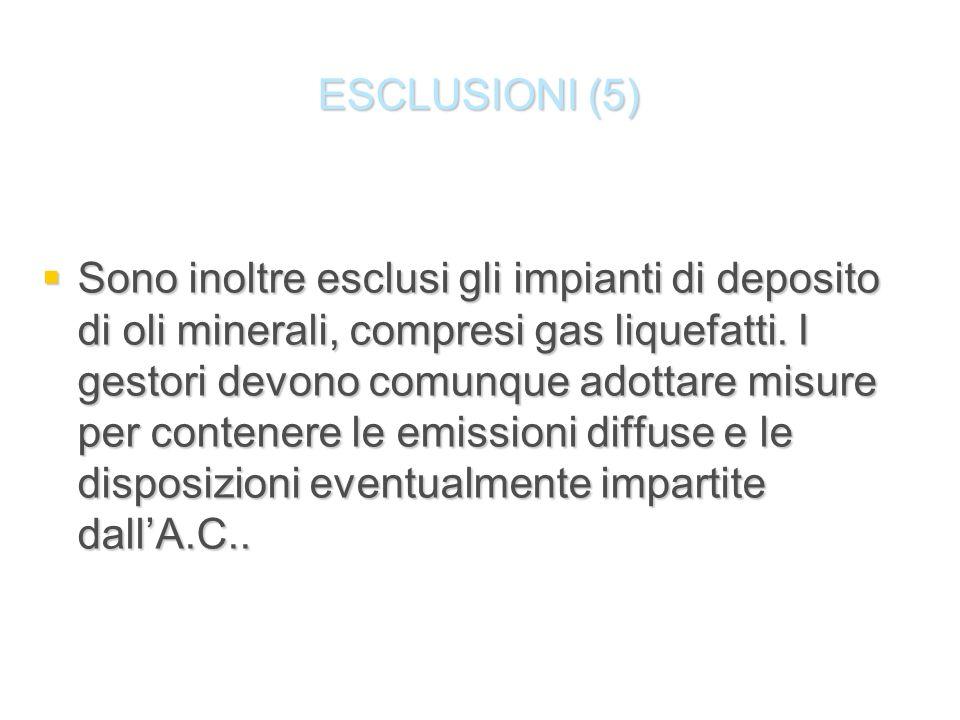 ESCLUSIONI (5)