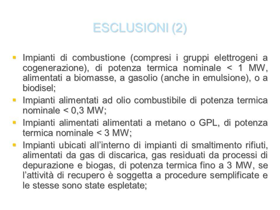 ESCLUSIONI (2)