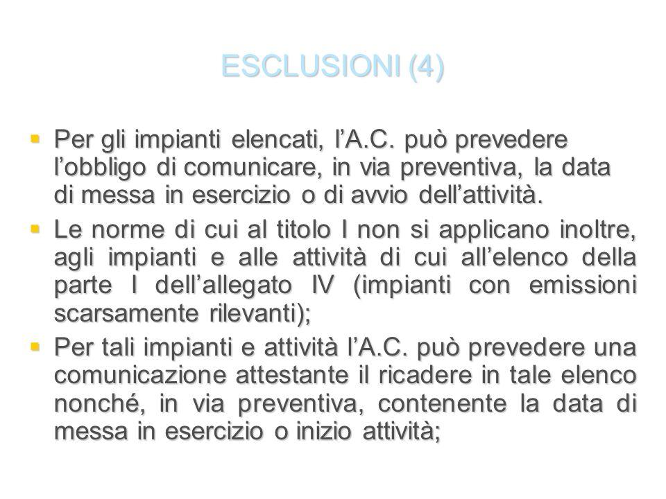 ESCLUSIONI (4)