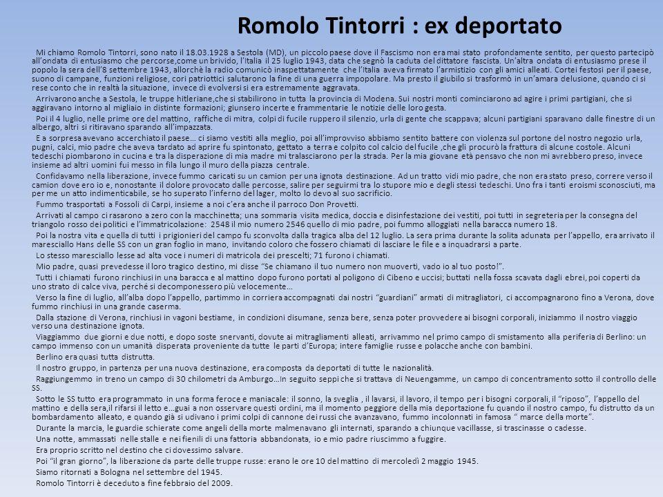 Romolo Tintorri : ex deportato