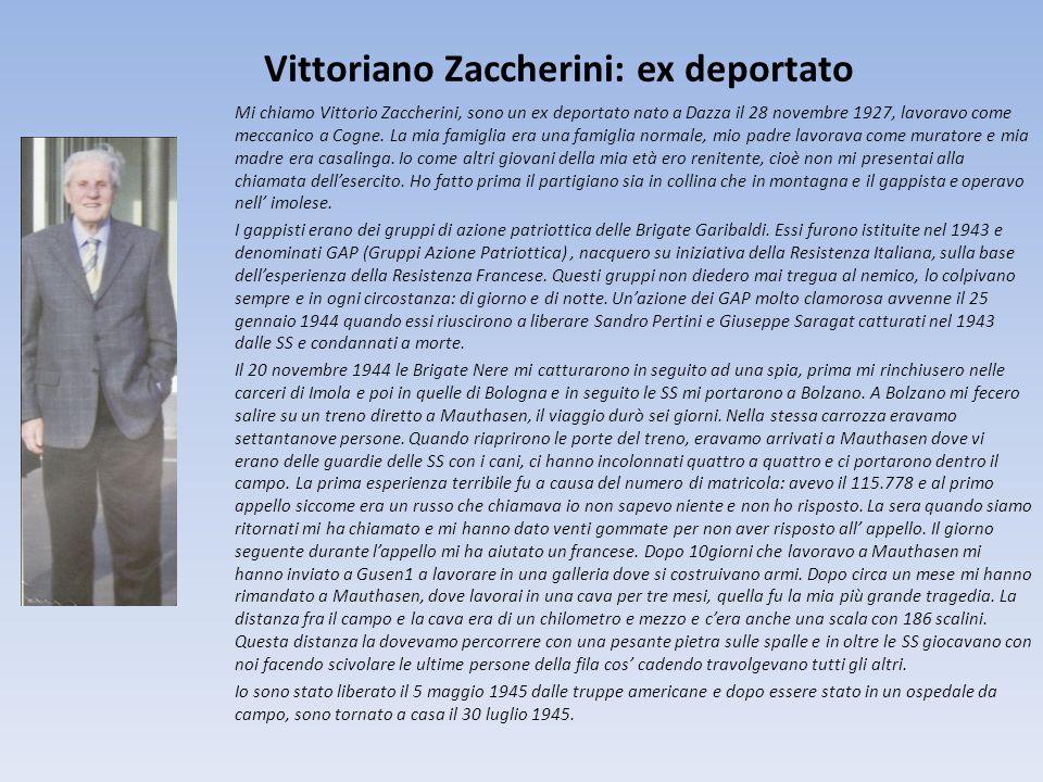Vittoriano Zaccherini: ex deportato