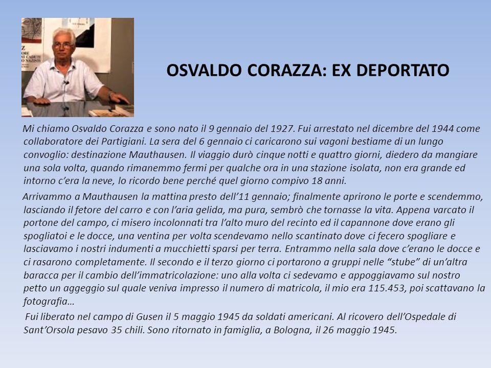 OSVALDO CORAZZA: EX DEPORTATO
