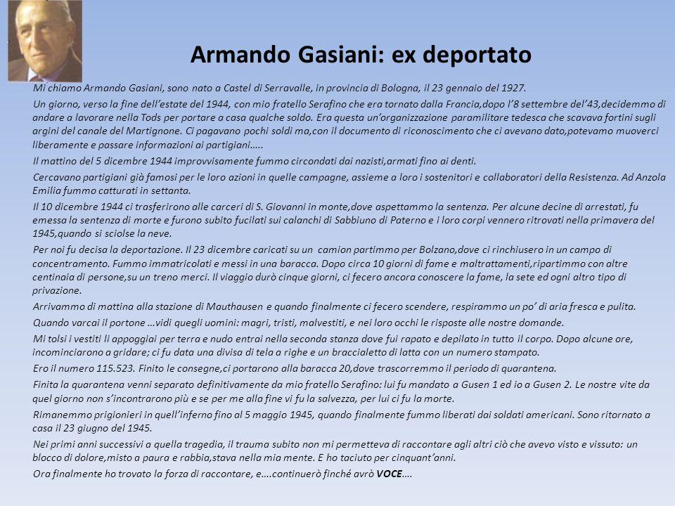 Armando Gasiani: ex deportato