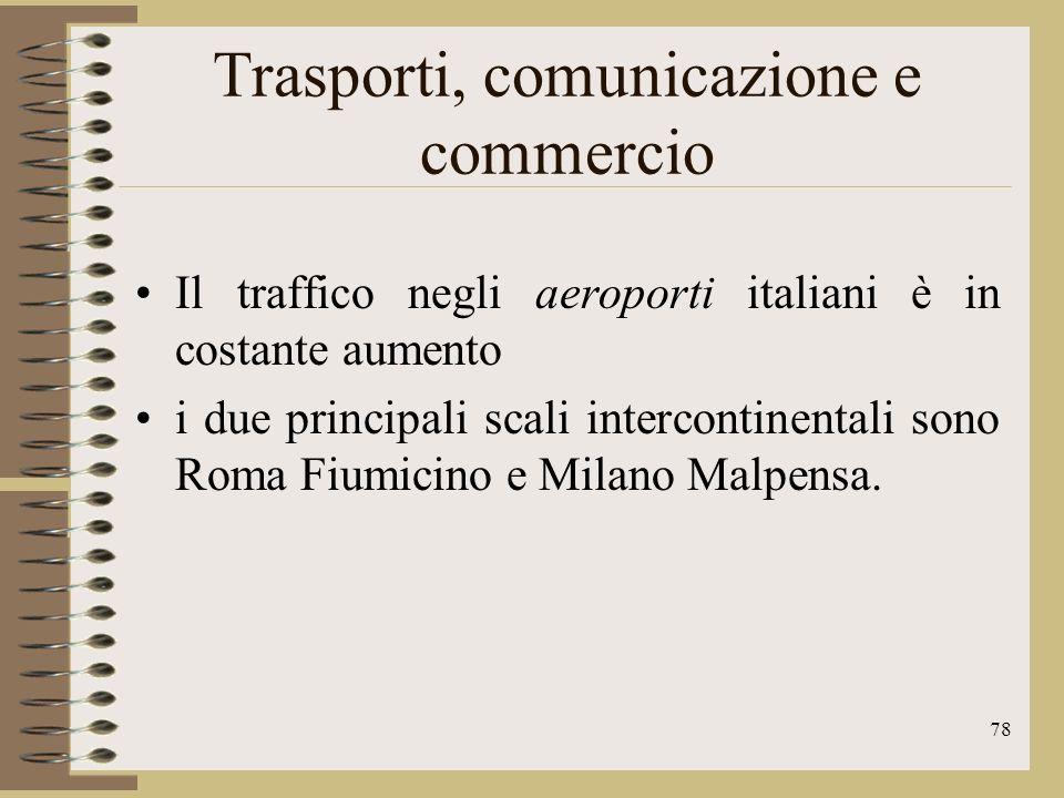 Trasporti, comunicazione e commercio