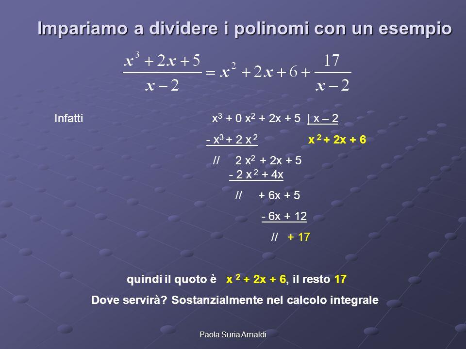 Impariamo a dividere i polinomi con un esempio