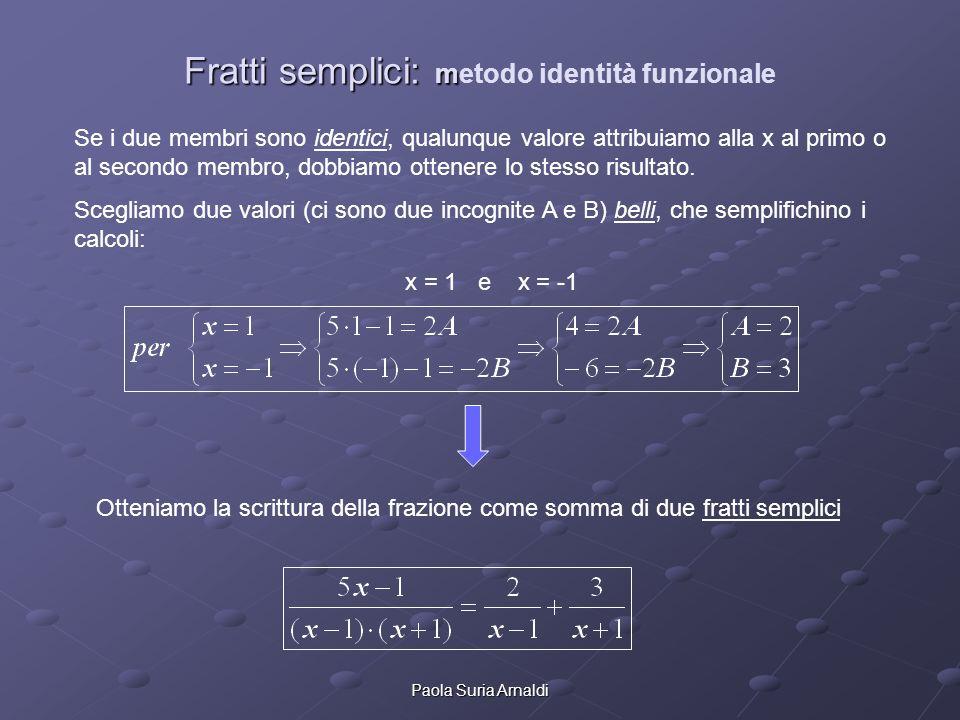 Fratti semplici: metodo identità funzionale