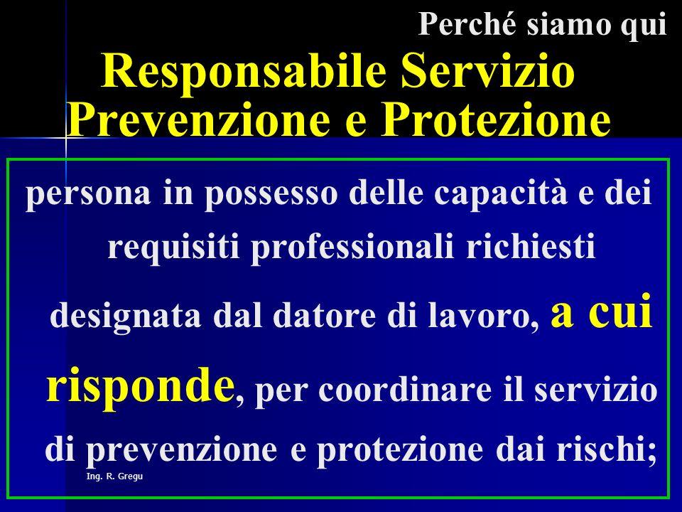 Responsabile Servizio Prevenzione e Protezione