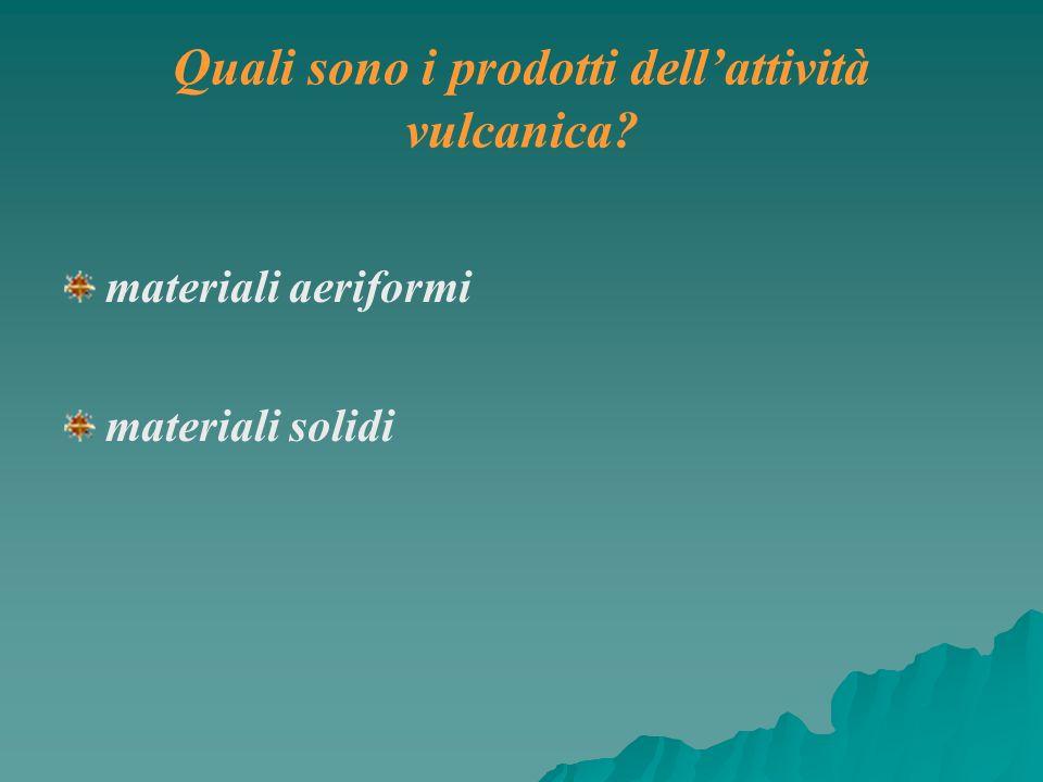 Quali sono i prodotti dell'attività vulcanica