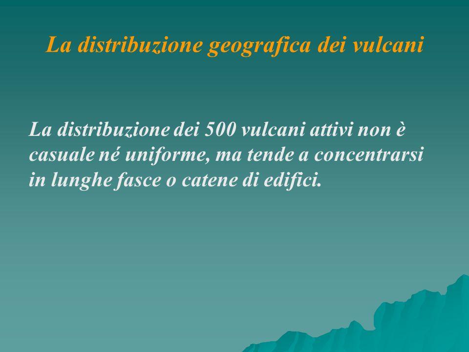 La distribuzione geografica dei vulcani