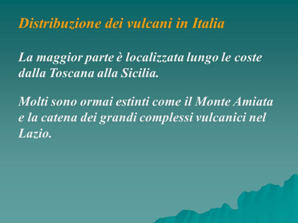 Distribuzione dei vulcani in Italia