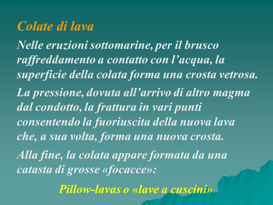 Pillow-lavas o «lave a cuscini»
