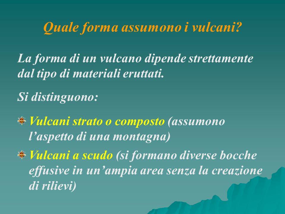 Quale forma assumono i vulcani