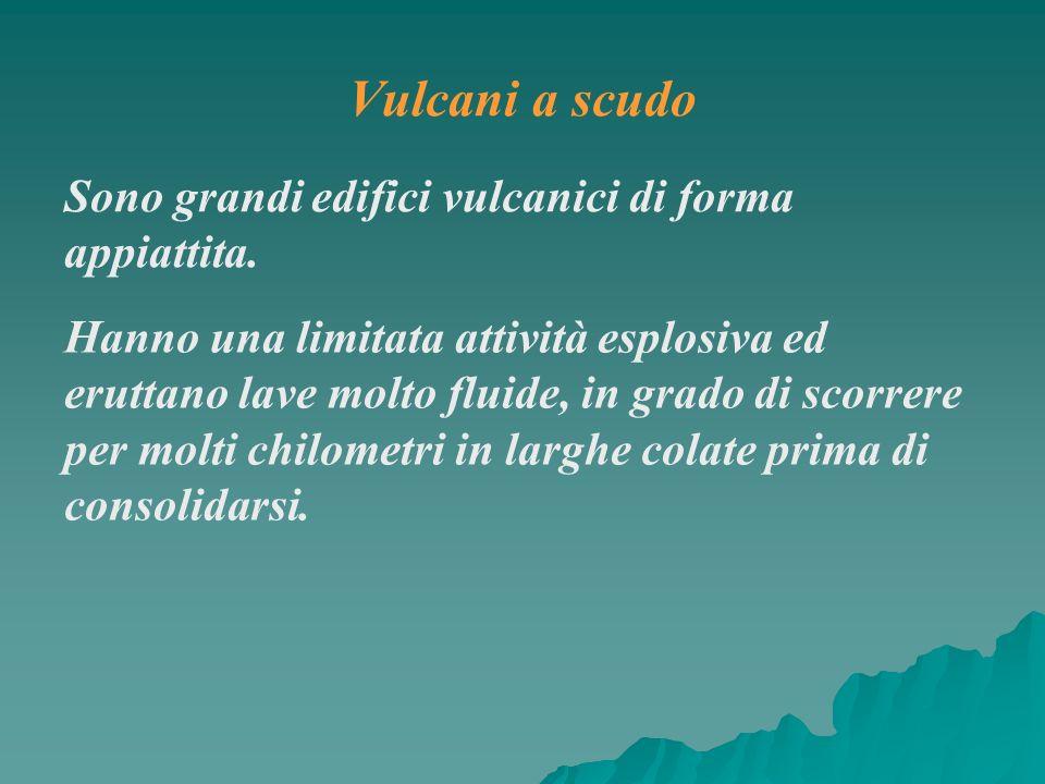 Vulcani a scudo Sono grandi edifici vulcanici di forma appiattita.
