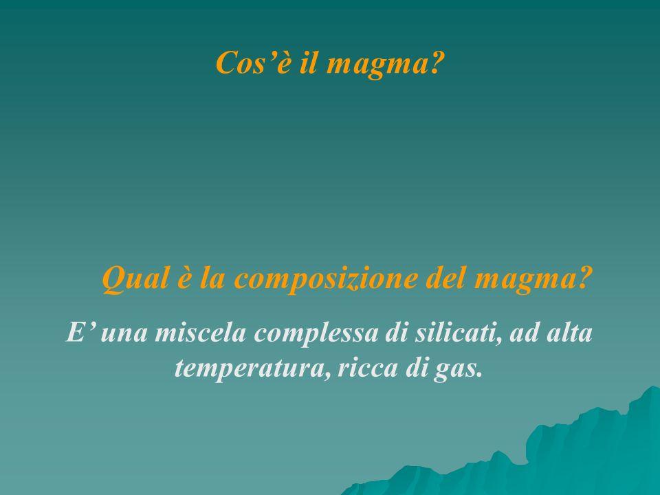 Qual è la composizione del magma