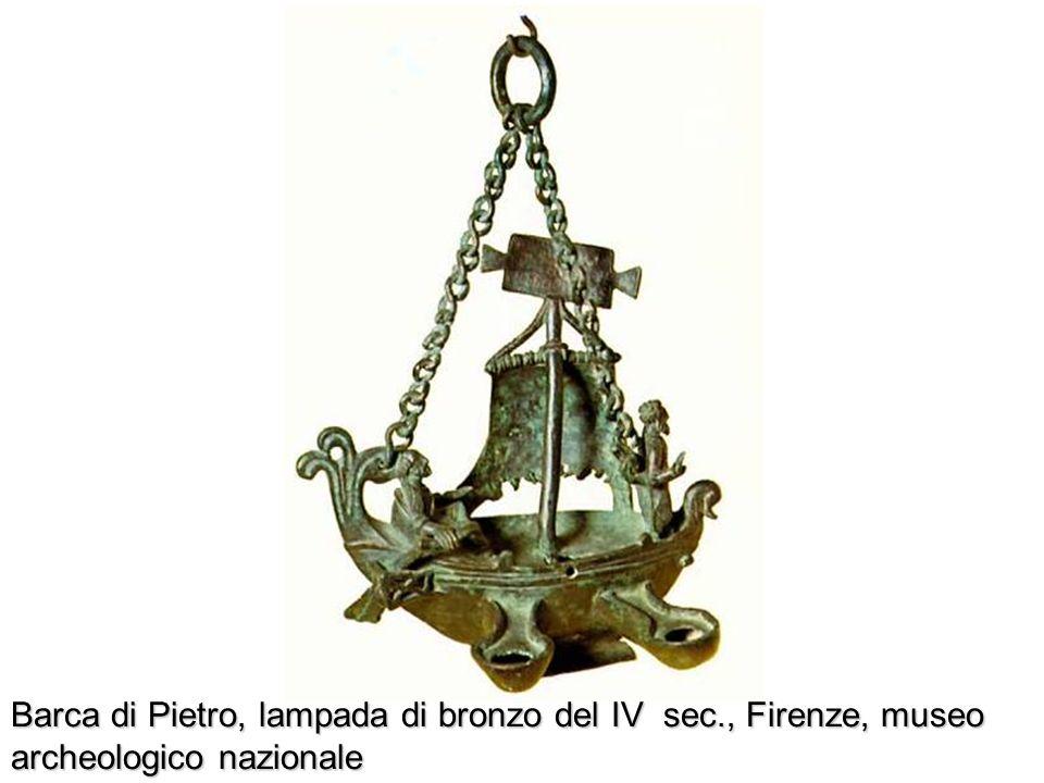 Barca di Pietro, lampada di bronzo del IV sec