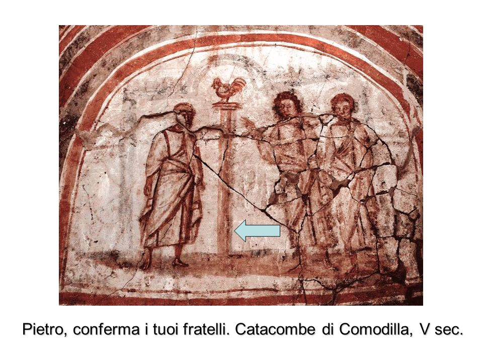 Pietro, conferma i tuoi fratelli. Catacombe di Comodilla, V sec.