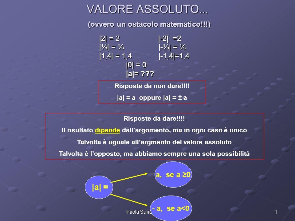 VALORE ASSOLUTO... (ovvero un ostacolo matematico!!!)