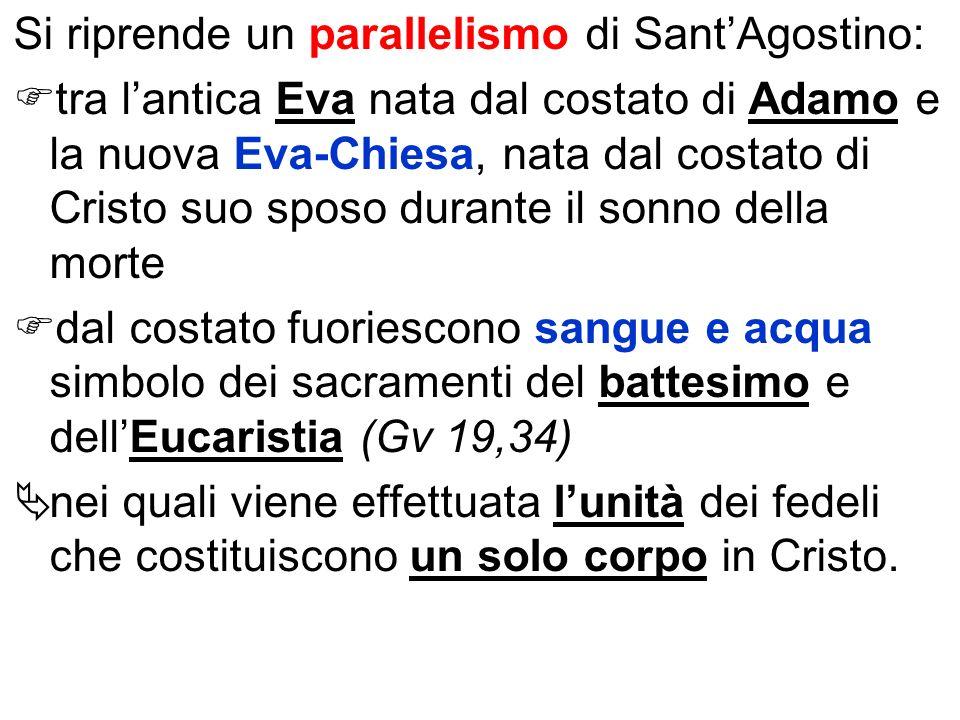 Si riprende un parallelismo di Sant'Agostino: