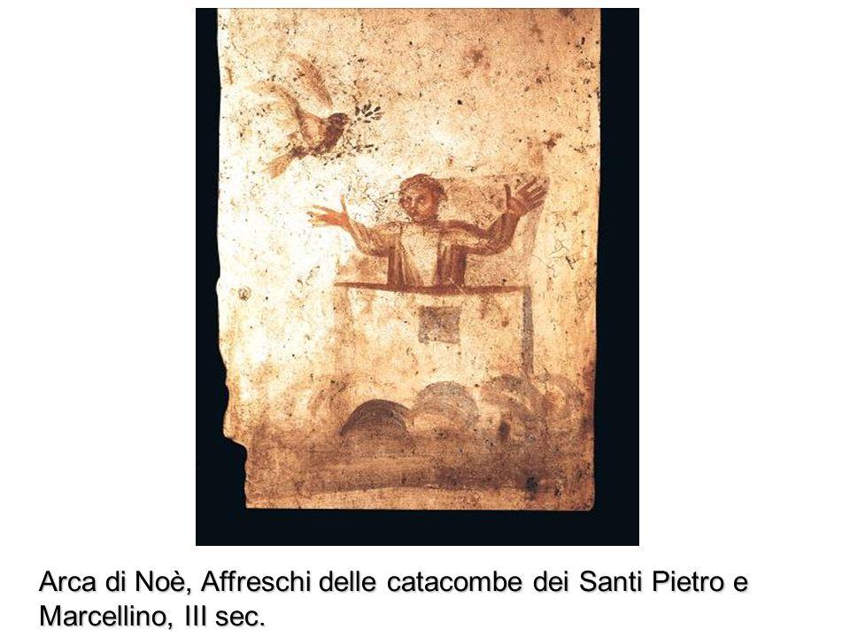 Arca di Noè, Affreschi delle catacombe dei Santi Pietro e Marcellino, III sec.