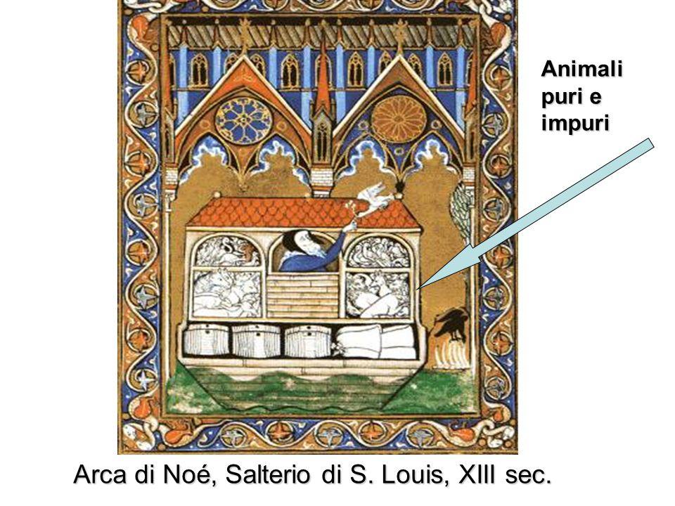 Arca di Noé, Salterio di S. Louis, XIII sec.
