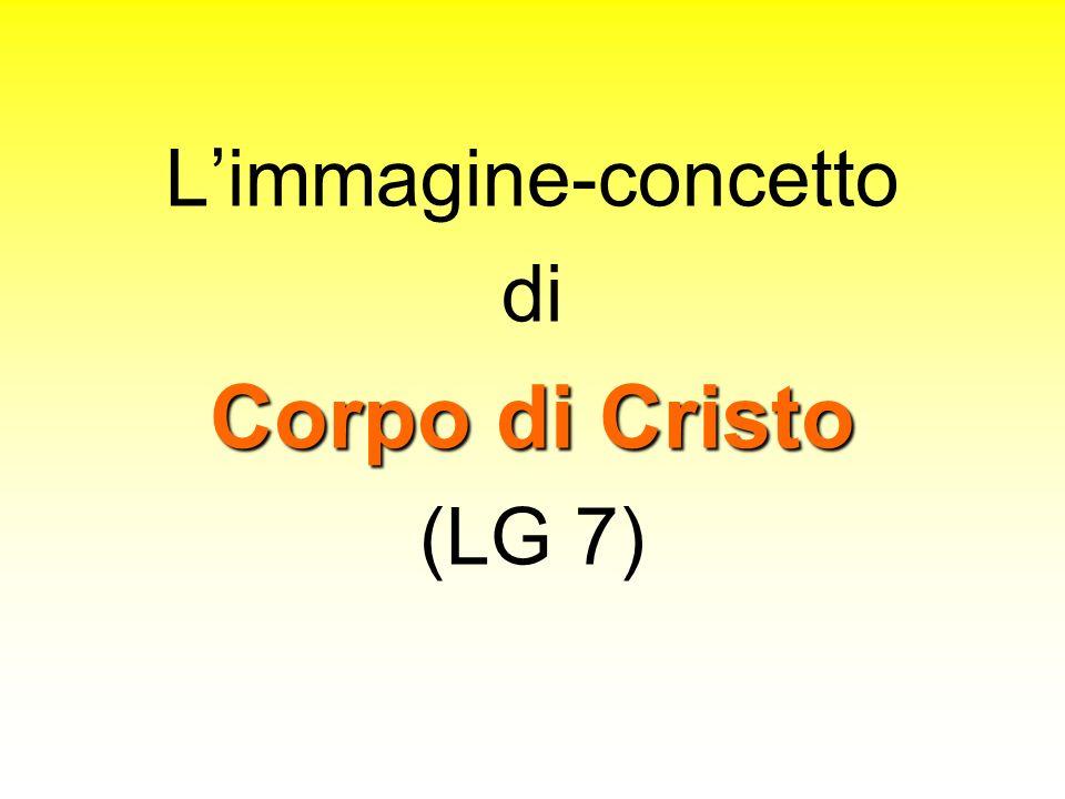 L'immagine-concetto di Corpo di Cristo (LG 7)