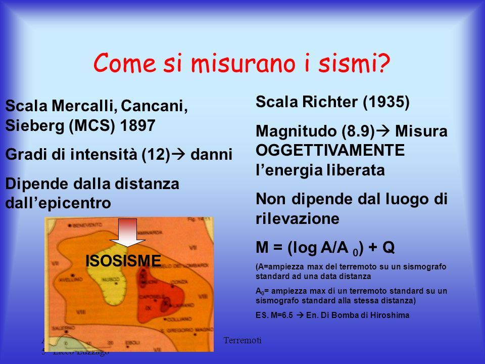 Come si misurano i sismi