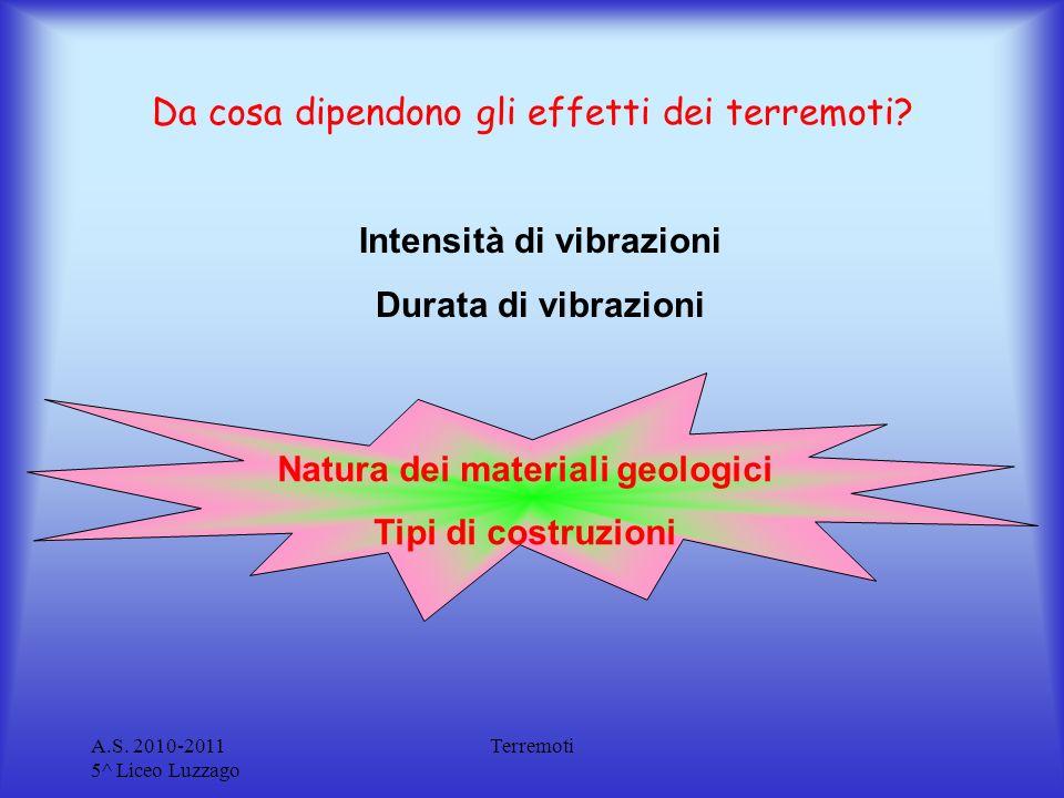 Da cosa dipendono gli effetti dei terremoti