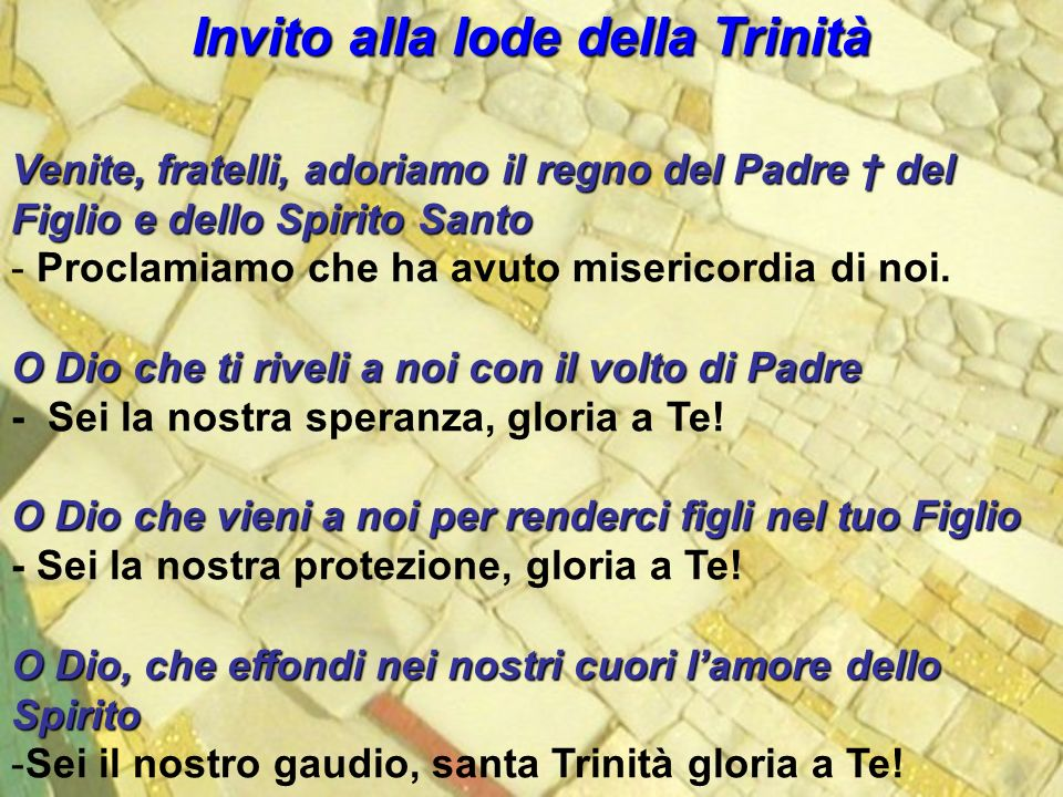Invito alla lode della Trinità