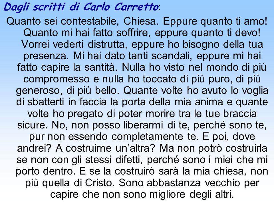 Dagli scritti di Carlo Carretto: