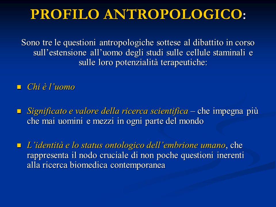 PROFILO ANTROPOLOGICO: