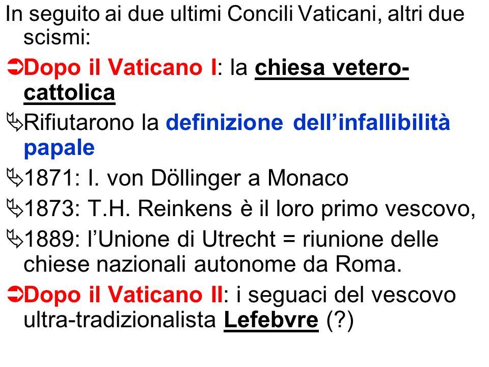 Dopo il Vaticano I: la chiesa vetero-cattolica