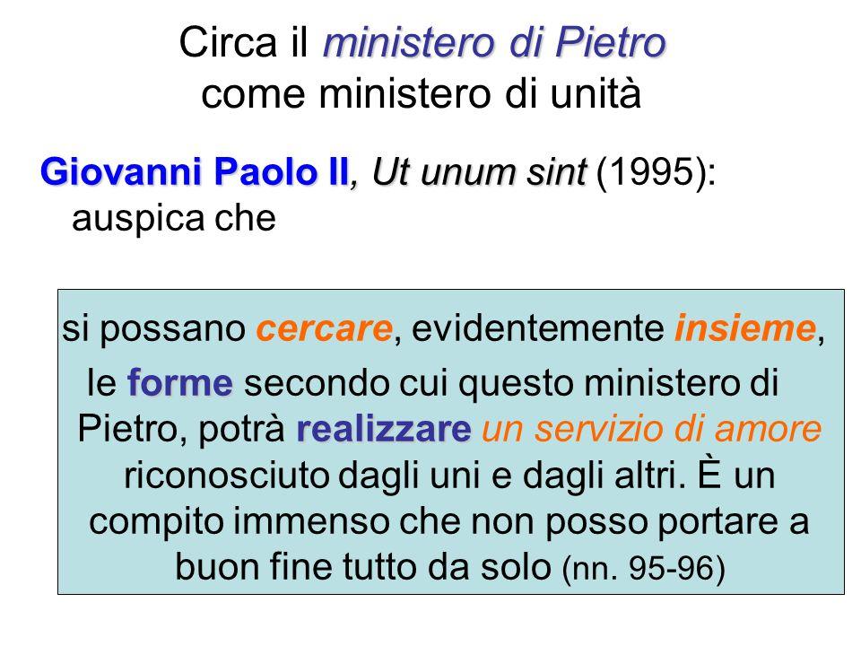 Circa il ministero di Pietro come ministero di unità